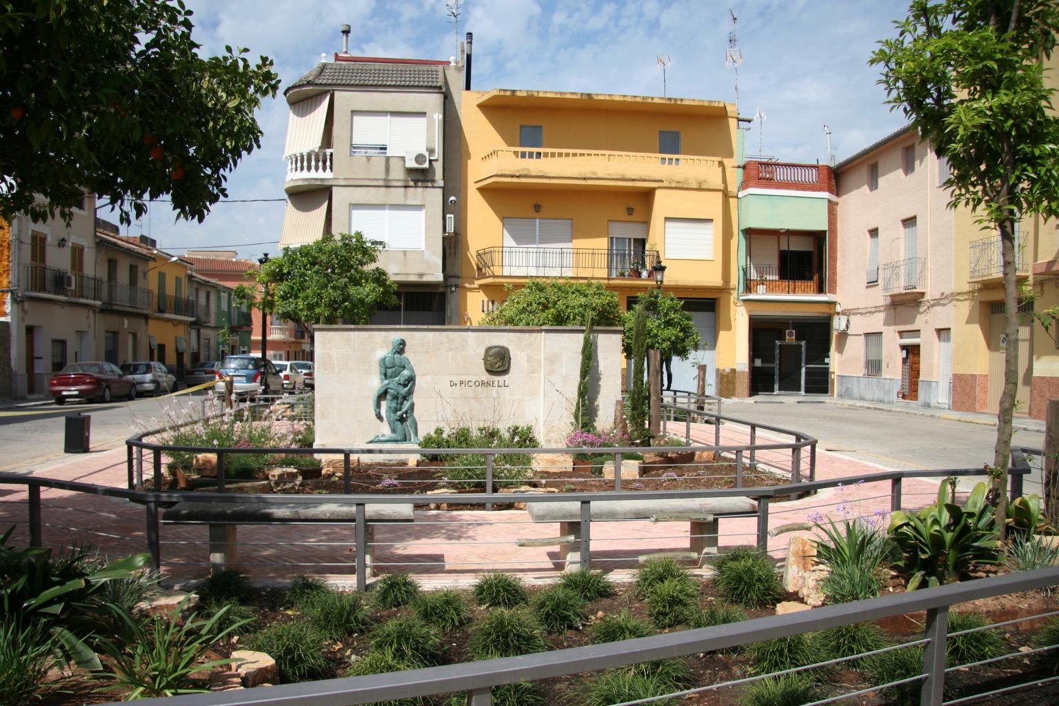 Plaça del doctor Picornell, l'any 2010